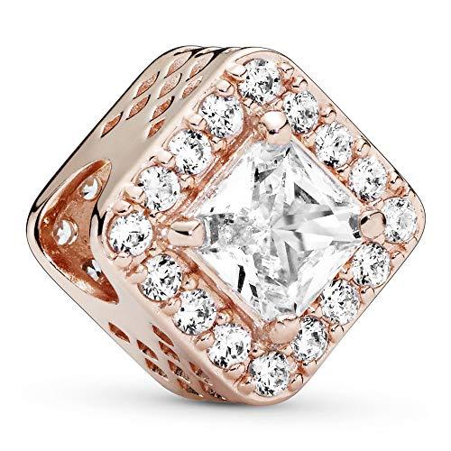 Pandora Charm geometric shine rose 786206CZ