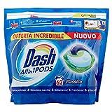 Dash Pods Allin1 Regular Pods para colada, limpieza incluso a bajas temperaturas 20 °C y perfume duradero – 1630 g