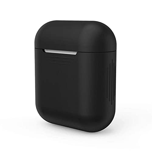 Xberstar Silicone Shock Proof Protective Case Sleeve Skin Cover for AirPods True Wireless Headphone Charging Box (Black)