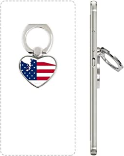 cold master DIY lab Washington America Map Stars Stripes Flag Heart Cell Phone Ring Stand Holder Bracket Universal Support Gift MultiColor