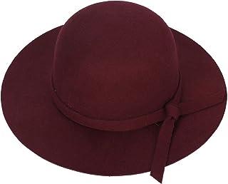 Jixin4you Women's Foldable Wide Brim Wool Felt Floppy Fedora Hat - Cloche Derby Bowler Church Party Bucket Hats