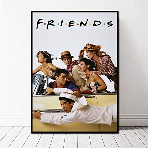 Hao Sai's shop Pintura Sin Marco Friends TV Series Poster Art...