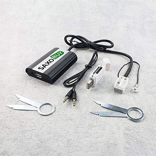 USB + SD + AUX Adapter (V2) kompatibel mit Audi, kompatibel mit VW, Seat, Skoda 12pin Quadlock