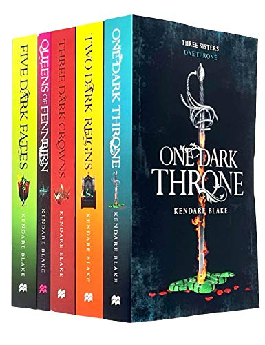 Three Dark Crowns Series 5 Books Collection Set By Kendare Blake (Three Dark Crowns, One Dark Throne, Two Dark Reigns, Queens of Fennbirn, Five Dark Fates)