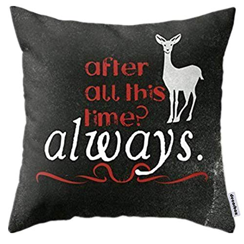 andersonfgytyh Home Style Cotton Throw Pillow Cover Cushion Case Harry Potter Severus Snape After all this time Always Square Design (60cmx60cm)