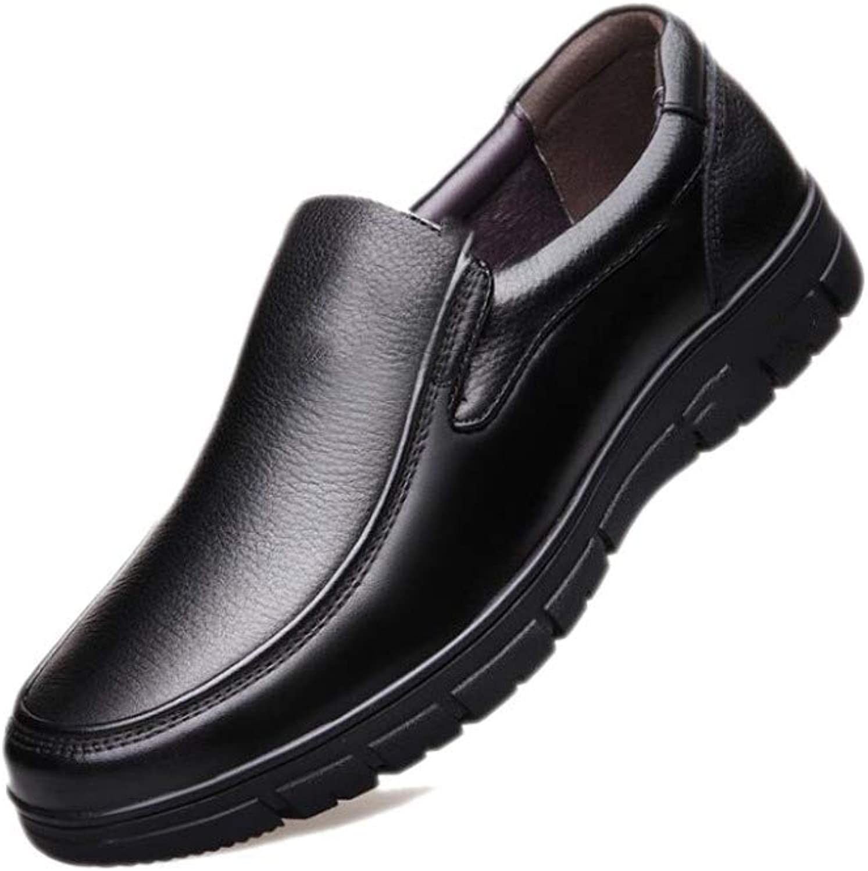 ASJUNQ Soft Cotton Business Casual Mans skor, svart -38