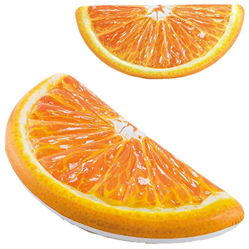 Intex 58763EU - Colchoneta Hinchable naranja diseño realista
