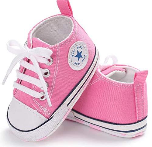 Auxma Niedlich Kind Baby Säugling Junge Mädchen weiche Sohle Kleinkind Schuhe Leinwand Sneak (6-12 Monat, Rosa)