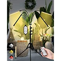 Four-Head Full Spectrum Floor Plant LED Grow Light with Tripod Stand