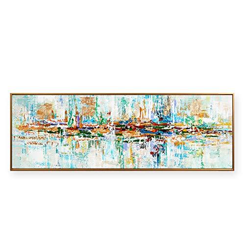 Modernos Del Arte Cuadro En Lienzo, Abstracta Pintura Carteles Impresiones De La Lona Arte De La Pared Decorativa Cuadros Pintura(Sin Marco)(70x210cm)
