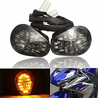 CoCocina Motorcycle LED Running Turn Signal Lights Mount for Yamaha YZF R6 2008-2016