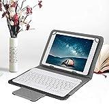 ASHATA Tastiera Bluetooth con Cover Protettiva, Cassa Senza Fili Portatile Bluetooth, Custodia Protettiva Ultrasottile Tastiera Universale Multifunzione per Tablet 9.7-10.1 Pollici iPad