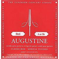 【国内正規品】バラ弦 AUGUSTINE オーガスティン クラシックギター弦 RED MEDIUM TENSION 5弦(A)