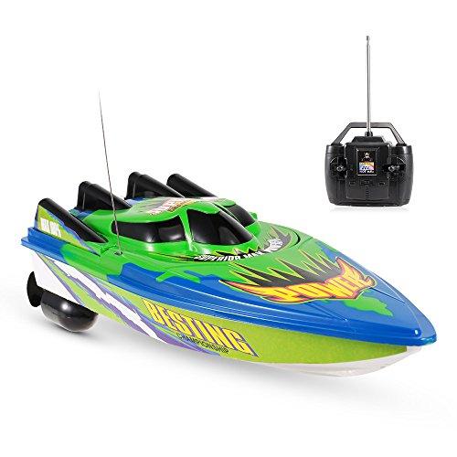 GoolRC RC Boat Hochgeschwindigkeits-Boot, ferngesteuertes Spielzeug für Kinder und Anfänger, ferngesteuertes Boot für Seen und Pools