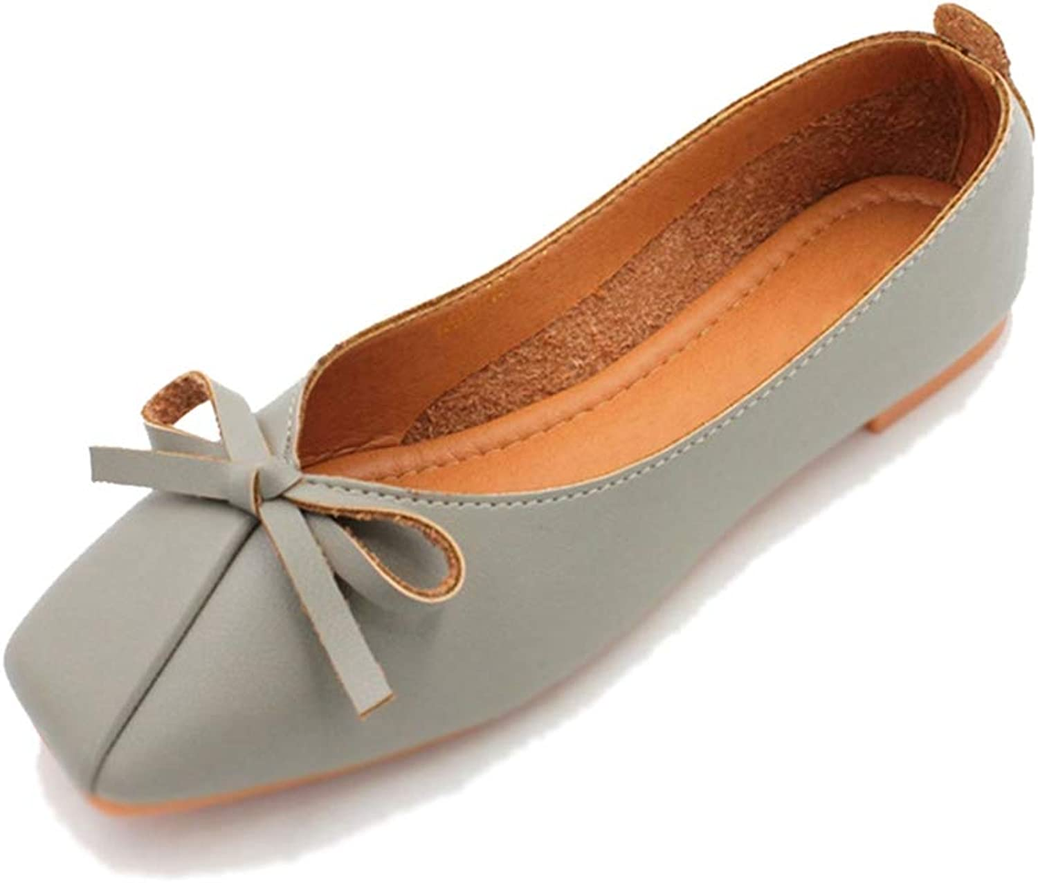 Phil Betty Women Flats shoes Square Toe Soft Soles Slip-On Comfort Ballet Flats shoes