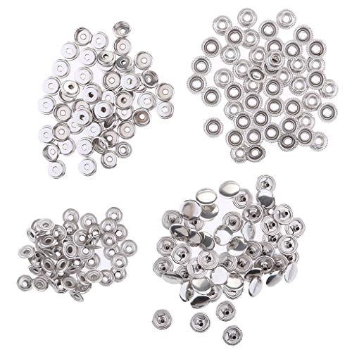 Sharplace Set de 100pcs Attache Fixations de Réparation Douille-Bouton Fixations à Vis en Acier Inoxydable