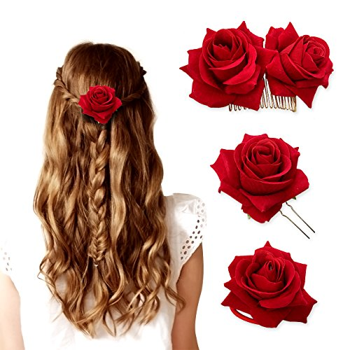 Rose Floral Hair Clip Accessories