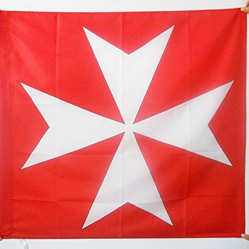 AZ FLAG Flagge Kreuz MALTESERORDEN 90x90cm - Orden VON Malta Fahne 90 x 90 cm Scheide für Mast - flaggen Top Qualität