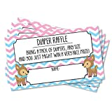 25 Deer Raffle Ticket Inserts for Twin Baby Shower or Gender Reveal Invitations