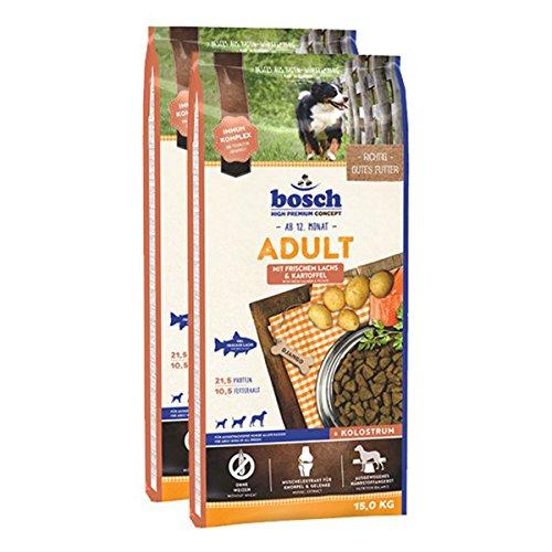 Bosch Hundefutter Verschiedene Sorten 2x15kg Lachs & Kartoffel