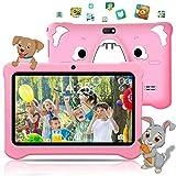 Tablet para niños de 7 Pulgadas, Android 9.0 Pie WiFi, 3GB de RAM 32GB ROM Tablet Android, Educación, Juegos, Control Parental, Google GMS Certificado, Bluetooth, Doble Cámara (Rosado)