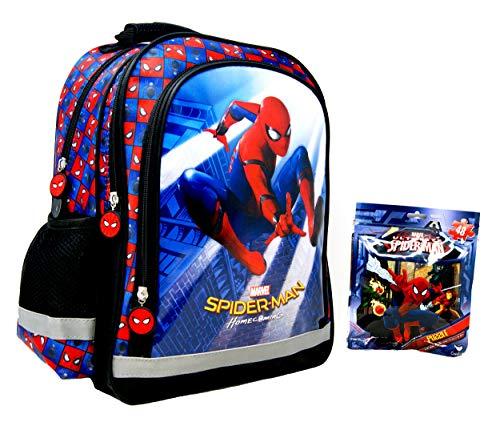 51uxQqCvmlL - Marvel Spider-Man – Mochila escolar – 38 x 28 x 18 cm – Apto para DIN A4 – Diseño: Spiderman – para escuela, deporte + ocio + Puzzle On the Go