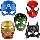 FAVELA Super Hero Avengers Cartoon Plastic Mask for Kids- Set of 5 Avengers