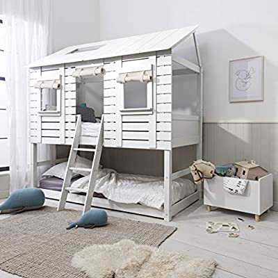 Noa and Nani - Christopher Midsleeper Treehouse with Underbed - (White)