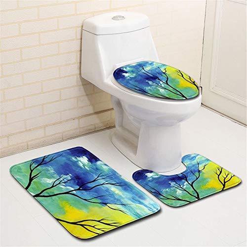 DAHUZI Resumen Baño Baño Dormitorio Tres Piezas Cocina Estera Multiusos Estable Y Antideslizante Diseño Colorido