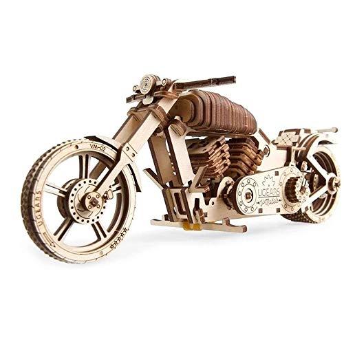 Taoke 3D Puzzle Vintage Vehicle mechanische Modelle 3D Wooden Puzzle Box Assembly Bastelset Mechanische Modellbau-Set (Farbe: Natur, Größe: 258x84x105 (mm)) 8bayfa