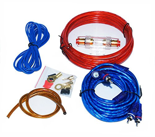 HTS MJ-8 Kit Altavoz profesional Cable RCA Amplificador de Instalación de Cableado...