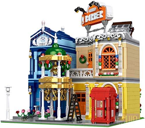 JIALI Modelo de Bloques de construcción de barberos de City, Juguetes de construcción de DIY Moc Compatible con Lego - 2267 PCS