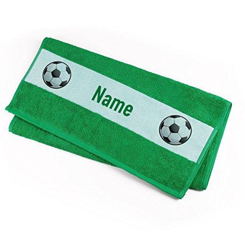 Herz & Heim® Handtuch 50 x 100 cm für Fußballer mit Namensaufdruck