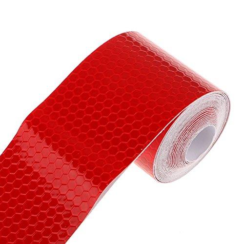 PIXNOR Klebeband Warnklebeband Reflektorband Sicherheit Markierung Band 3M (Rot)