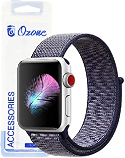 Ozone Nylon Strap For Apple Watch 44mm / 42mm with Hook and Loop Fastener For Series 4/3/2/1 - Dark Blue