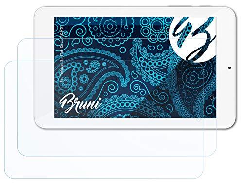 Bruni Schutzfolie kompatibel mit Trekstor SurfTab Xiron 7.0 HD Folie, glasklare Bildschirmschutzfolie (2X)