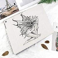 おしゃれな新しい ipad pro 11 2018 ケース 傷つけ防止 二つ折 開閉式 防衝撃デザイン 超軽量&超薄型 全面保護型 (iPad Pro11 インチ)芸術的な鉛筆画アートプリントその天使の羽を開く裸の妖精