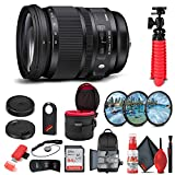 Bundle Includes: 1 x Sigma 24-105mm f/4 DG HSM Art Lens for Sony A, 1 x Pro Sling Backpack, 1 x SanDisk 64GB Ultra SDXC Memory Card, 1 x Premium Lens Case, 1 x Memory Card Reader, 1 x 3 Piece Pro Filter Kit UV, CPL, and FLD, 1 x Deluxe Cleaning Set, ...
