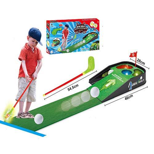 YTBLF Giochi Sportivi da Genitore-Bambino Casuali Set da Gioco per Campi da Golf per Bambini Musica Leggera E Leggera da Golf al Coperto E All'aperto