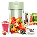 YUVEKNG Personal Blender,Mixer,One-handheld Drinking Portable Blender for Shakes and Smoothies,12 oz Cup with Rechargeable USB,BPA-Free Juicer,Classic Light Green,Baby Food maker,Travel Sport Bottle