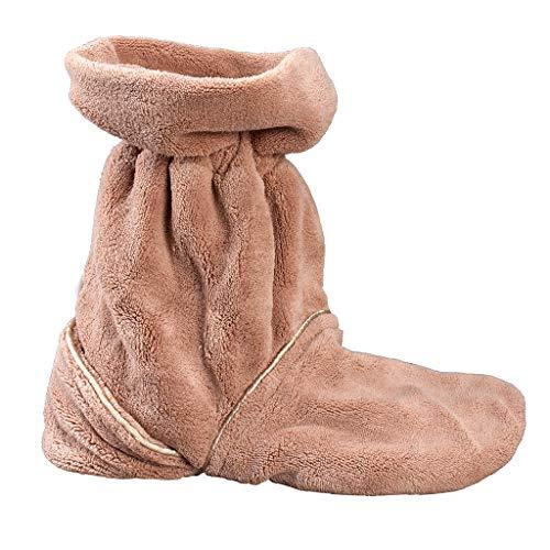 Wärmeschuhe für die Mikrowelle | Wärmepantoffeln mit Gelkissen | Aufheizbare Hausschuhe | Idealer Fußwärmer im Winter | Fußbodenheizung-Alternative |