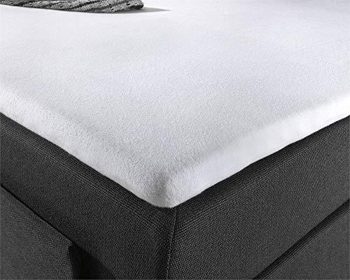 Hoeslaken Molton Topper, stretchbaar matrasbeschermer voor topper, anti-allergische, anti-huisstofmijt, Optimaal Slaapcomfort, 180 x 200/220 cm