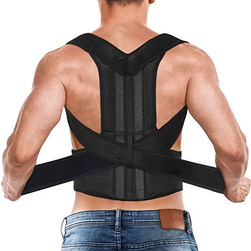 Posture Corrector for Men Women, Back Straightener Brace Upper Lower Back Shoulder Lumbar Support and Pain Relief, Kyphosis Correction Adjustable Straps L