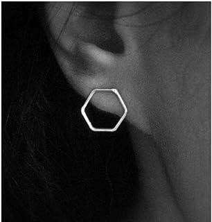 Hotaden Semplice Geometrica Esagonale Orecchini per Le Donne Piccolo Ear Ear Studs Regalo Earing