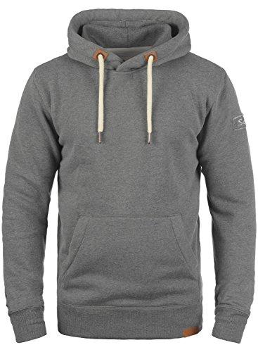 !Solid TripHood Herren Kapuzenpullover Hoodie Pullover Mit Kapuze Und Fleece-Innenseite, Größe:XL, Farbe:Grey Melange (8236)