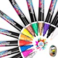 Acrylic Paint Marker Pens, Waterproof Paint Pens for Rocks Painting, Ceramic, Glass, Wood, Fabric, Canvas, Mugs, DIY Craft Making Supplies, Scrapbooking Craft, Card Making (12 colors)