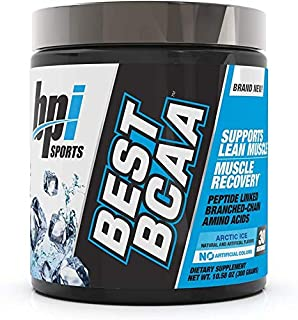BPI Sports Best BCAA Peptide Linked Branched Chain Amino Energy Powder, ARCTIC ICE, 30 Servings by BPI Sports