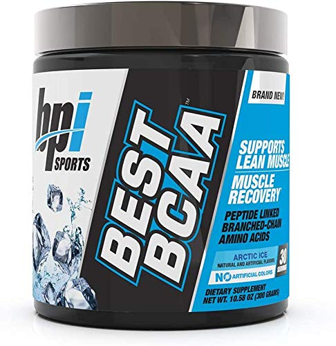 BPI Sports Best BCAA Peptide Linked Branched Chain Amino Energy Powder, ARCTIC ICE, Pack of Two 30 Servings