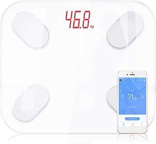 Básculas Digitales De Baño Body Fat Scale Floor Scientific Smart Electronic Led Digital Peso Baño Balance Bluetooth App Android O Ios Blanco