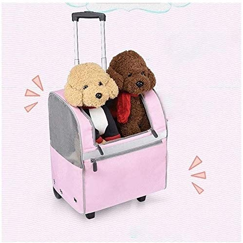 aipipl Pet Dog Stroller Pet Supplies Pet Outdoor Trolley Case, Cat Bag Portable Dog Space Bag, Cat Cage Out, Breathable Suitcase, Dog Cage, Pet Supplies, Multi-pet Four-wheeled Dog Cart